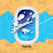 World travel concept — Stock Vector