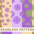 Set seamless floral patterns. Vector illustration background. — Stock Vector #59355795