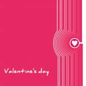 Valentines Day poster.Typography.Vector illustration. — Stock Vector