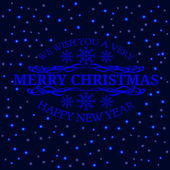Christmas retro typographic and light background. Merry Christma — Stock Vector