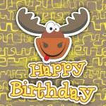 Happy birthday card design. Vector illustration — Stock Vector #71417113