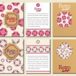 Set of brochures in retro style. Vector brochure, booklet cover — Stock Vector #76669511