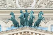 Quadriga on building of the Bolshoi theatre — Stock Photo