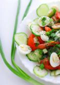 Light vegetable salad — Stock Photo