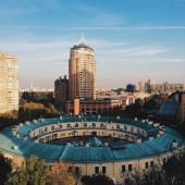 Beautiful architecture in Kyiv — Stock Photo