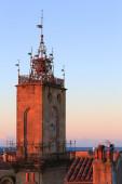 Clock tower at sunset — Stock Photo