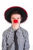 Przystojny mężczyzna w sombrero — Zdjęcie stockowe