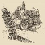 Hand drawn Tower of Pisa — Stock Vector #72754991