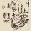 Hand drawn Streets in Venice — Stock Vector #72755145