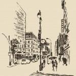 Hand drawn New York city — Stock Vector #72755485