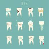 Teeth icon set — Stock Vector