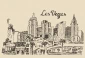 Sketch of Las Vegas city — Stockvektor