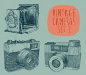 Zestaw starych aparatów — Wektor stockowy
