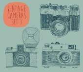 设置的老相机 — 图库矢量图片