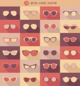 Hipster glasses set — Stock Vector