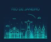 Silueta města Rio de janeiro — Stock vektor
