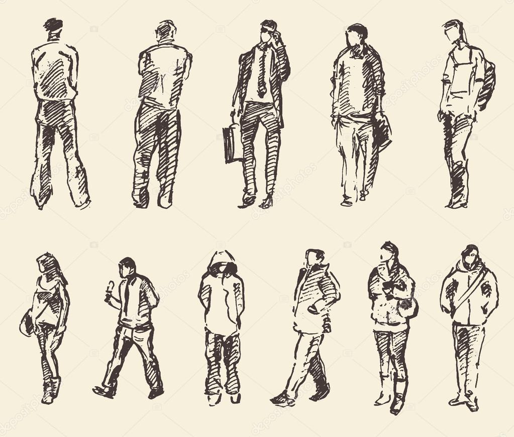 картинки скетчи людей