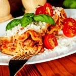 Italian lasagne with tomato — Stock Photo #52214809
