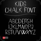 Kids chalk font — Stockvektor