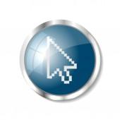 Blue web button — Stock Vector