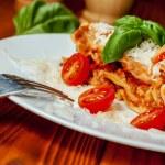 Italian lasagne with tomato — Stock Photo #53570697