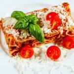 Italian lasagne with tomato — Stock Photo #53750709
