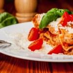 Italian lasagne with tomato — Stock Photo #53750723