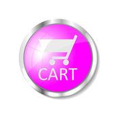 Pink web button — Stock Vector