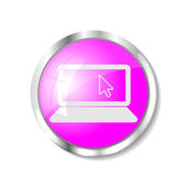 Pink web button — Stockvector