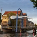 Bascule bridge Leeuwarden Netherlands — Stock Photo #54149255