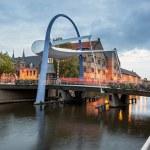 Bascule bridge Leeuwarden Netherlands — Stock Photo #57493069