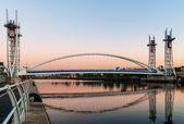 Footbridge salford quays — Stock Photo
