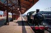 Steam engine of Train at Birmingham train station UK — Stock Photo