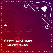 Wonderful New Years Eve and Merry XMAS Vector Template. Greeting Card Vector EPS10 Illustration Design — Stock Vector