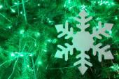 Christmas tree and decoration — Stock Photo