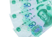 Chinese currency (renminbi) — Stock Photo