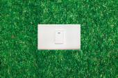 Ecological  Light switch — Stock Photo