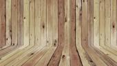 Piso y pared de madera antigua — Foto de Stock