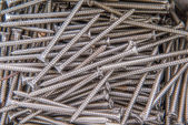 A pile of screw texture — Stock Photo