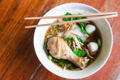 Chichken noodle on table — Stock Photo