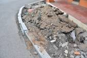 The construction site of road — Stock Photo