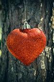 Glitter red heart — Stock Photo