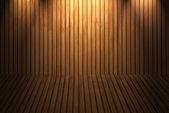 Деревянный пол и стены — Стоковое фото