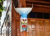 鬼面具,信仰的神圣的节日 — 图库照片