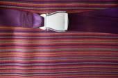 Close up seat belt on airplane — Stock Photo