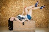 Smart asian girl is posing — Stock Photo