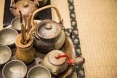 Japanese Tea pot and cups — Stock Photo