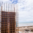 The construction site near to the sea — Stock Photo #69633951