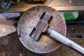 Steel sledge hammer — Stock Photo