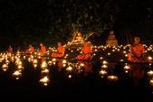Asaraha Busha day. monks at the river — Stockfoto